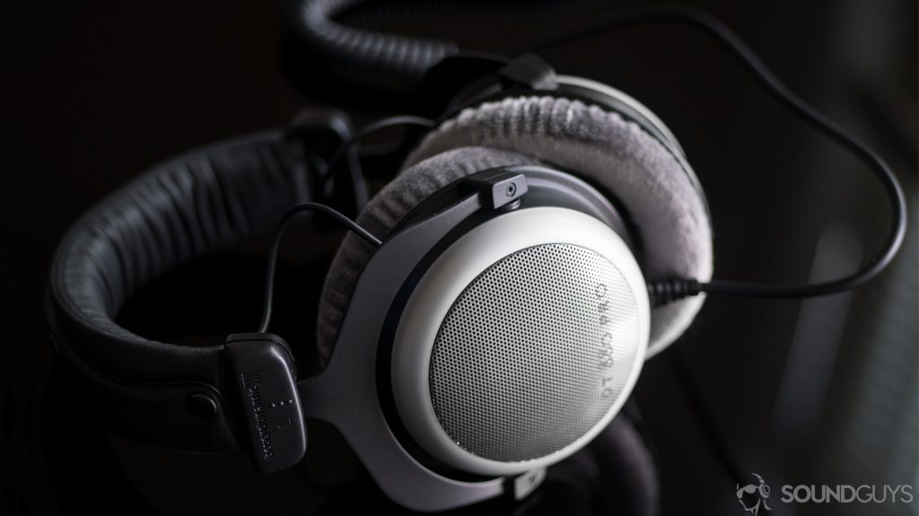 A photo of the Beyerdynamic DT 880 PRO headphones.