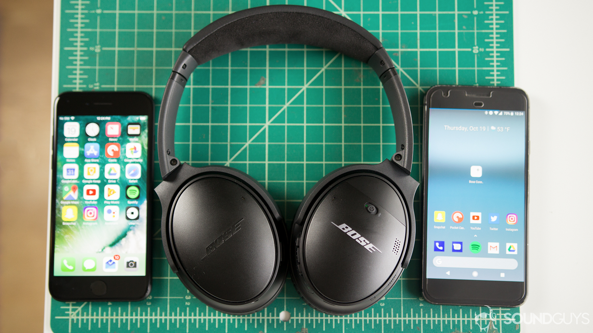 The Bose QuietComfort 35 II s voice assistant command works with both  Android iOS. a78d8b2b2749