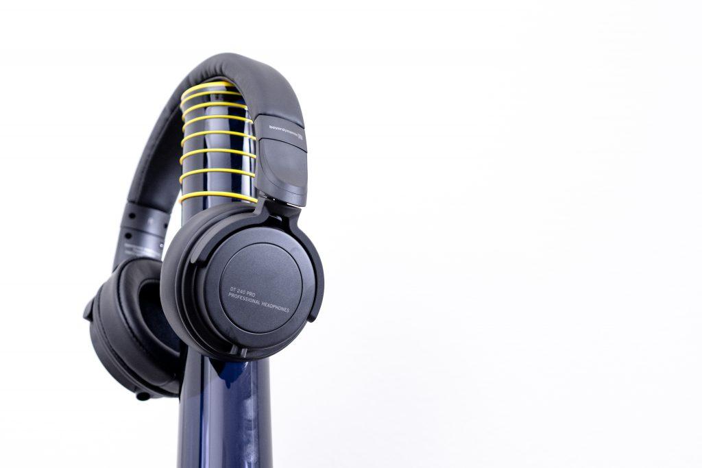 Best on-ear headphones: Beyerdynamic DT 240 PRO headphones cable removable on-ear over-ear comfort audio-technica ATH-m40X studio commuter
