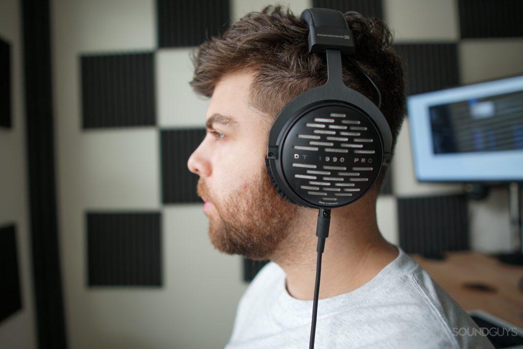 The Beyerdynamic DT 1990 Pro headphones are open-back.