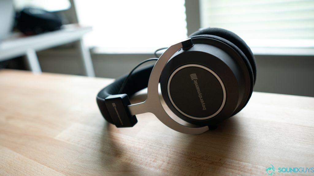 The Beyerdynamic headphones don't fold flat.