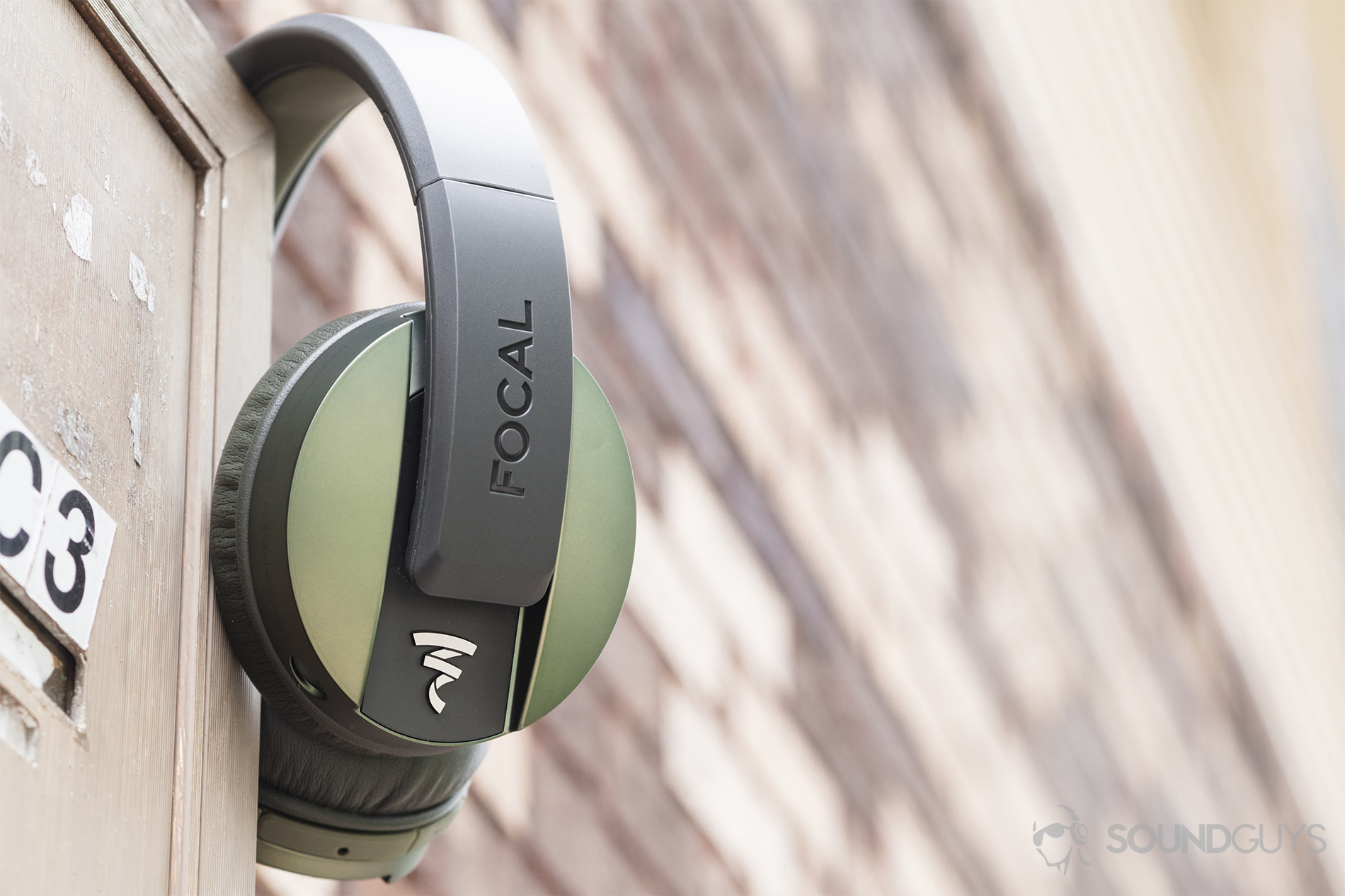 2d84f982e76 Focal Listen Wireless review: The headphones resting on an apartment  mailbox against an out-