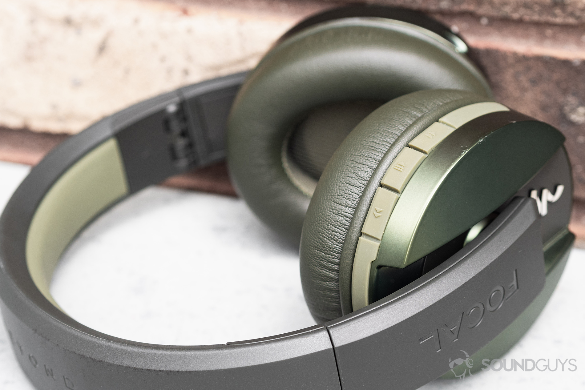 40e95c276d0 A close up of the Focal Listen Wireless headphones angled away from the  camera so the
