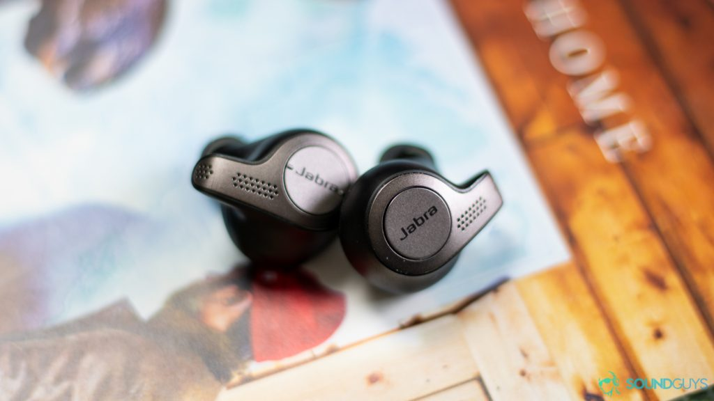 The Jabra Elite 65t true wireless earbuds' playback controls of the Jabra Elite 65t are two buttons on either one.