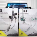 The packaging of the Jaybird Tarah pictured next to the X4 packaging.