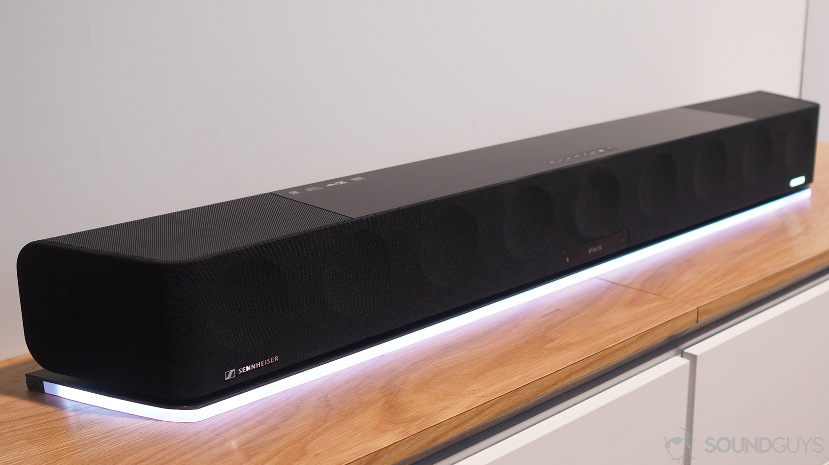 A photo of the Sennheiser AMBEO Soundbar.