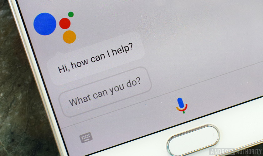 Google assistant speaker: Image of Google Assistant pulled up on a smartphone.