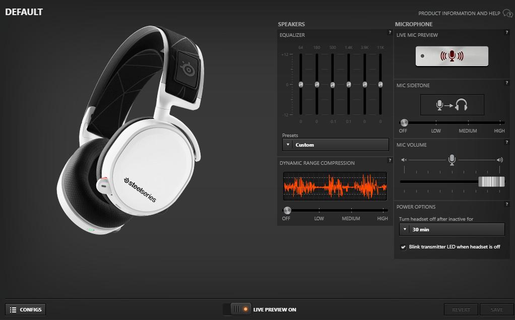 SteelSeries Engine 3 app screenshot