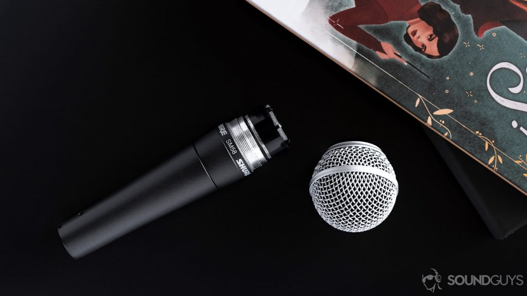 The Shure SM58 grille detached from the microphone stem: how to choose a microphone