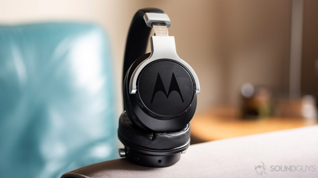 A photo of the Motorola Escape 500 ANC Bluetooth headphones for working out which are IPX4 rated.