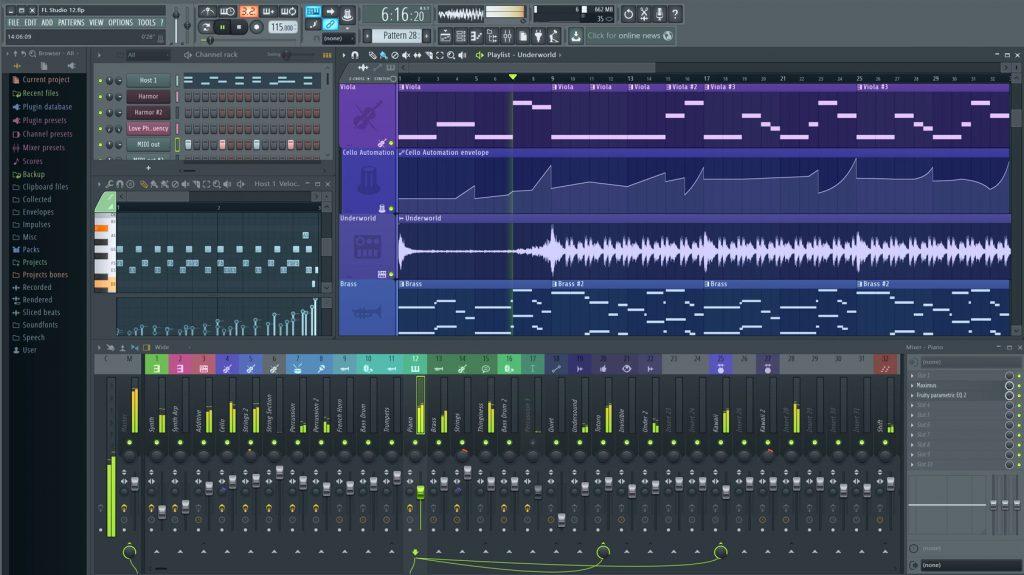 This is a screenshot of Fruity Loops Studio