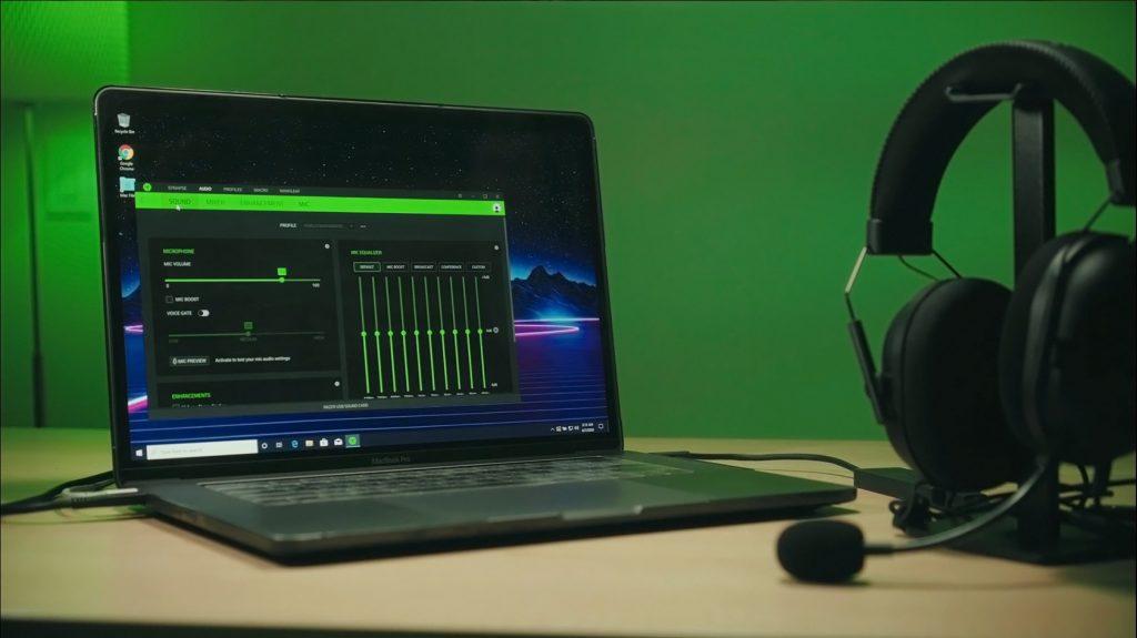 Razer Synapse 3 running on a MacBook Pro through a Windows virtual machine