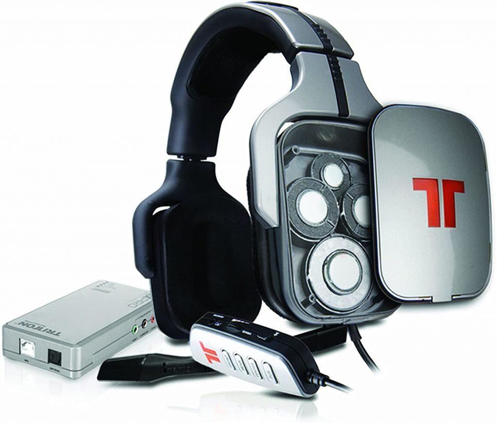 Cut away of a true surround headset showing multiple speaker drivers behind each ear