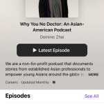 Screenshot of Apple Podcasts interface unfollowing a show.